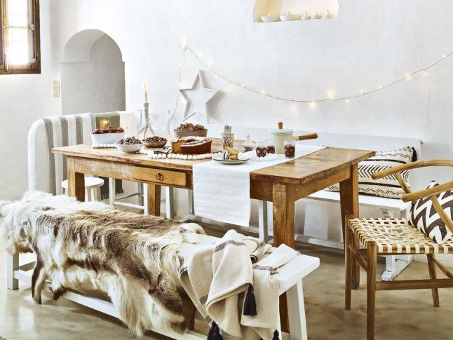 La navidad blanca y nórdica de un cortijo de Málaga