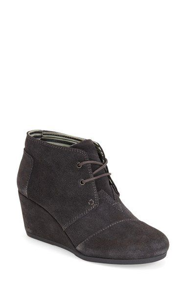 Cute! Tom wedge booties,  $89 at Nordstrom