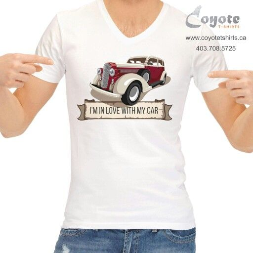 I'm in love with my car. www.coyotetshirts.ca 403.708.5725 No minimum, no setup fee, small order friendly, personal customization guaranteed, 24 to 48 hour turnaround, at 5534 1A ST SW Calgary. #Calgary #Alberta #Coyotetshirts #CustomTshirts #CalgaryAlberta #Halloween