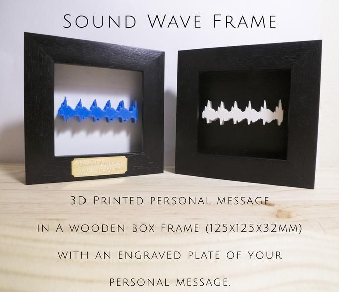 3D Printed Sound Wave Frame by Cancore 3D Printing #3dprinting