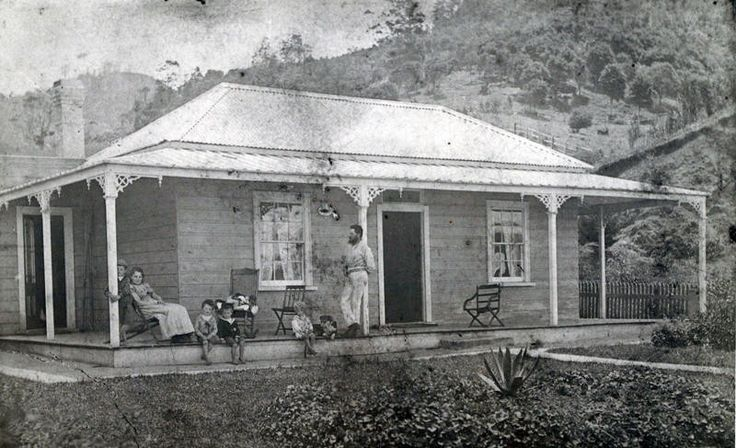 The first house of the Turner family, Little Huia