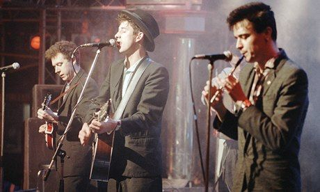 His writing developed at an incredible pace … Shane MacGowan with the Pogues. Photograph: ITV/REX