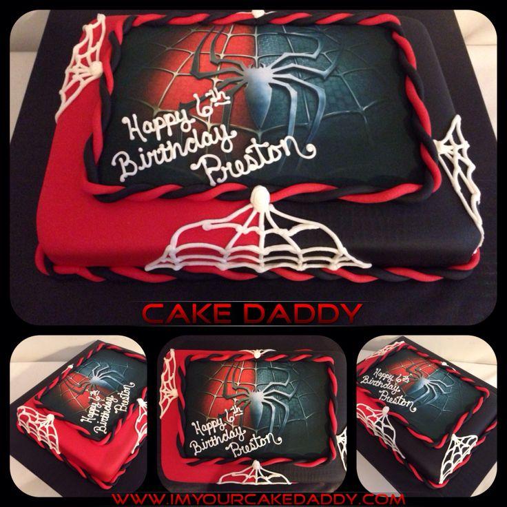 Spider-Man sheet cake.