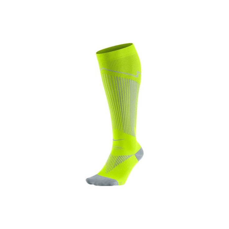 Nike Chaussettes Elite Run Compression OTC Jaunes - Univers-Running.com