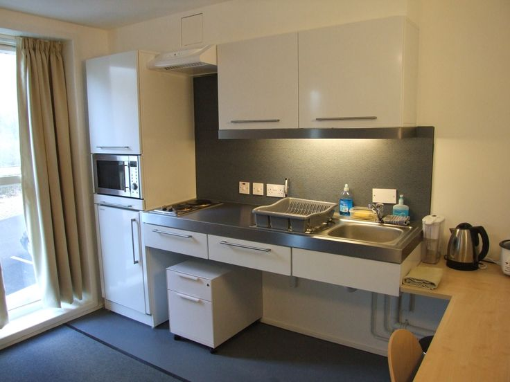 bespoke compact mini kitchen for disabled users at canterbury university after elfin was approached by the university partnerships programme - Compact Kitchen Ideas