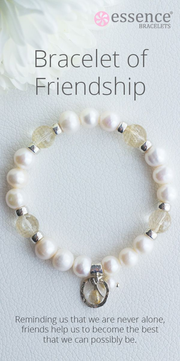Beautiful and special gift idea for a best friend or bridesmaid! Each bracelet is lovingly handmade by our healing practitioners with sterling silver, natural gemstones and pearls. To see our full collection of healing inspired jewelry, visit us at http://www.essencebracelets.com/shop/