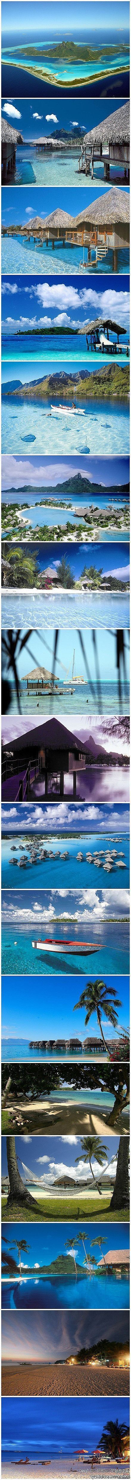 The tropical life of Bora Bora. Would love to pack my bags and go right now :) #tropical #island #beach #vacation