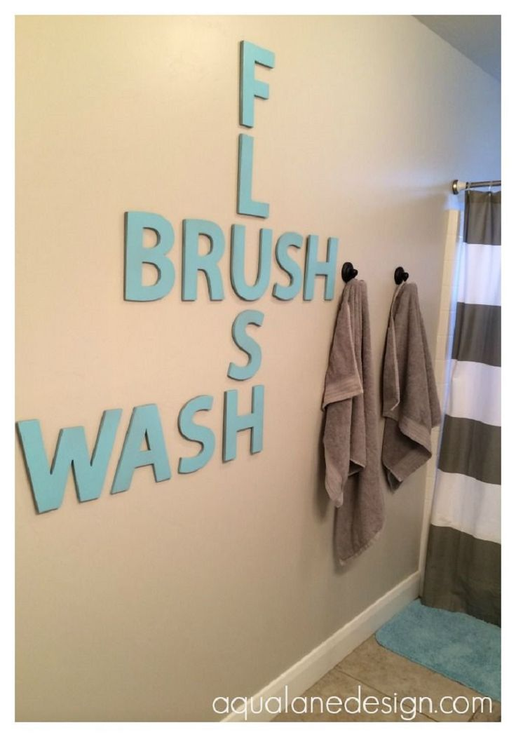 Bathroom Crossword Art - 15 Awe-Inspiring DIY Home Projects with Letters | GleamItUp