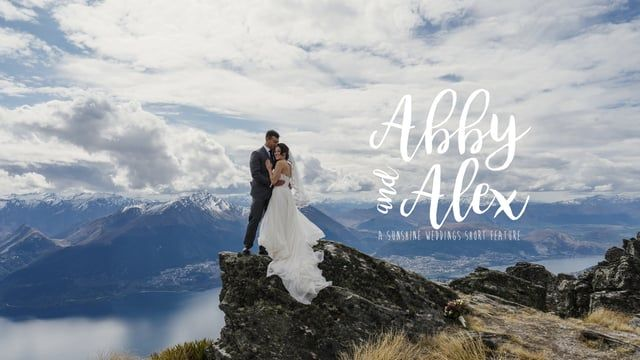 Abby and Alex's Queenstown elopement wedding - mountains, snow angels, handstands, fun and lots of love! Video and photography by Sunshine Weddings - Film and Photo www.sunshineweddings.co.nz