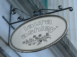 Old Laura Ashley sign