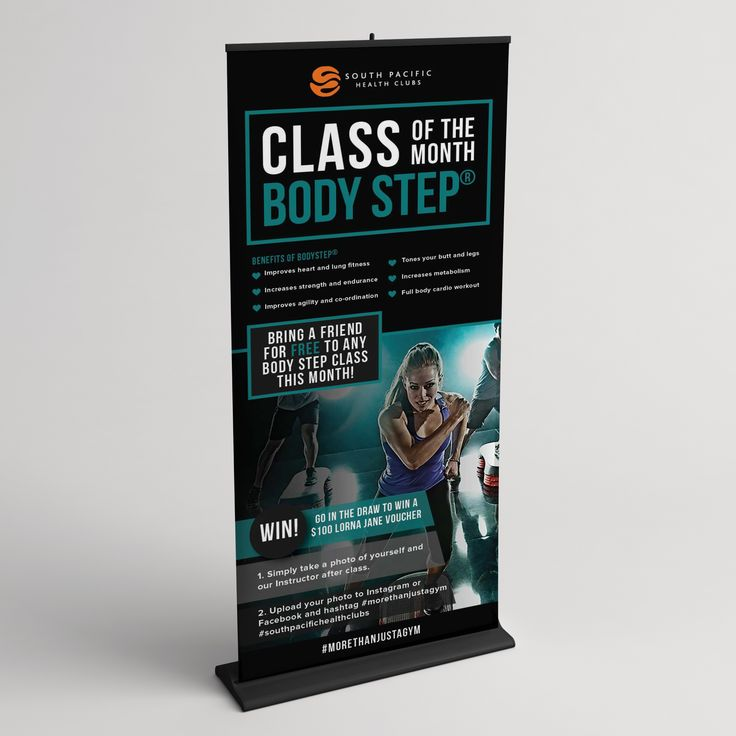 Black Cat Graphic Design | Portfolio | Posters, Banners, Social Media | Group Fitness | Les Mills Class of Month Campaign