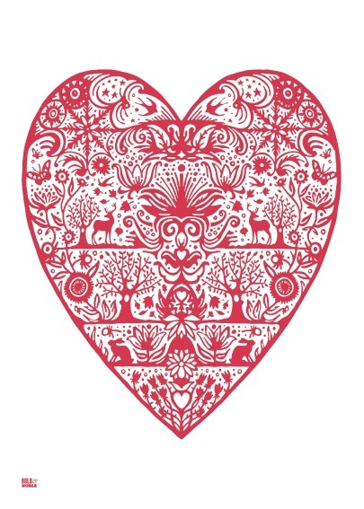 Pinner said: This is scandinavian but it's very similar to the Swiss paper cutting I grew up with