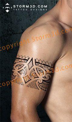 Tribal armband/legband tattoos in Polynesian and Maoristyle designs