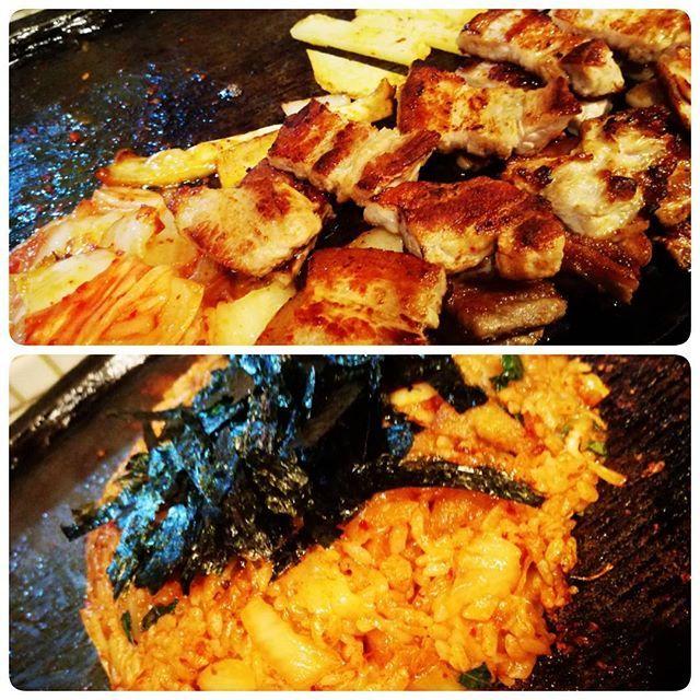 """俺ログ★★★☆☆ 「味ちゃん」東京は上野に位置するサムギョプサルの名店。TVでも""""行列が出来る店""""として度々、紹介されている。ちなみに""""味ちゃん""""と書いて""""まっちゃん""""と読む。なにか馴染みがあるな。韓国料理が並んで有名な新大久保では「とんちゃん」と「味ちゃん」の二大巨頭。上野でも、どっちの店舗も並んでる時が度々、見られる。味ちゃんでは通常より分厚い18㍉のバラが喰らえる。店員さんがイチから焼いてくれて、ごまだれに浸けてペロリンコ!〆はキムチ炒飯。これにチーズをトッピングすれば完璧だな。 #味ちゃん #サムギョプサル #肉 #肉王 #豚肉 #豚 #韓国 #バラ肉 #キムチ #キムチ炒飯 #焼肉 #俺ログ"""