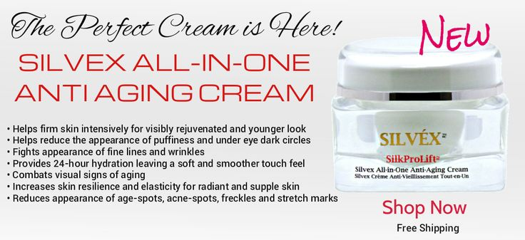 The luxurious anti-aging cream is a powerhouse of Peptides and helps transform instantly the visual signs of premature and advanced aging while providing intensive firming, anti-wrinkle and moisturizing benefits for a rejuvenated appearance for all types of skin. The valuable ingredients help erase the appearance of fine lines, wrinkles, brown age-spots, under eye puffiness/dark circles and stretch marks.   Get 15% Off on your first order!  http://www.silvexcosmetics.com
