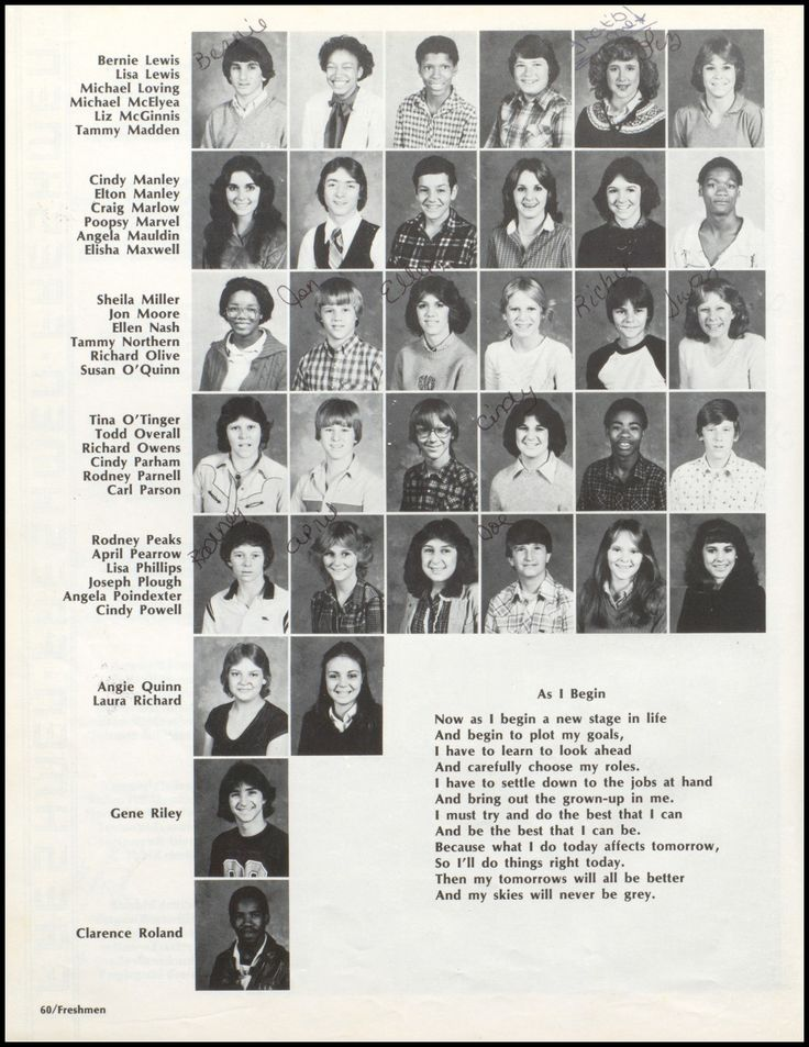 1982 Marion High School Yearbook via Classmates.com