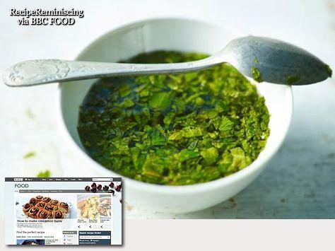 Real Mint Sauce / Ekte Engelsk Myntesaus