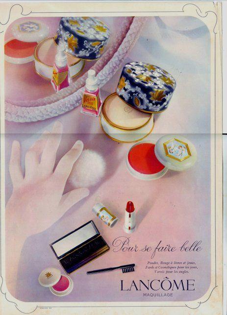 Lancôme beauty ad. // #Vintage #Beauty