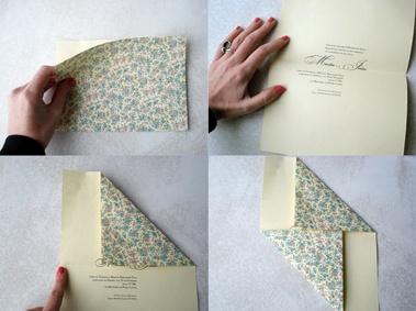convite sem envelope: convite de um lado, estampa de outro