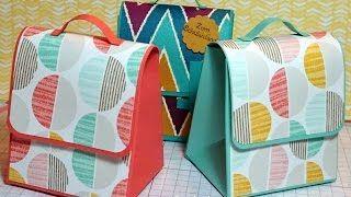 gift bag punch board tutorial - YouTube