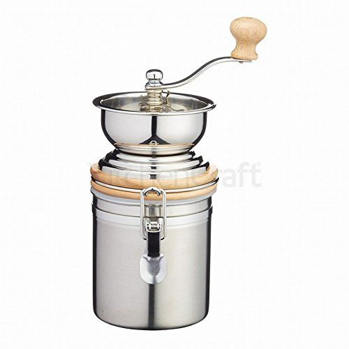 cool Kitchen Craft Stainless Steel Traditional Coffee Grinder, Silver