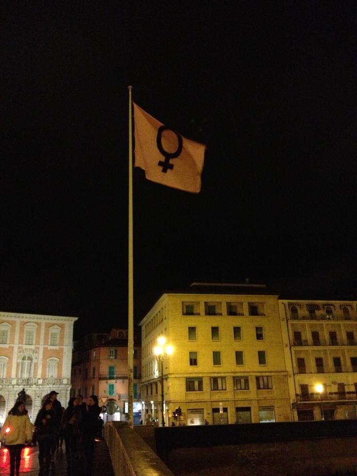 #8marzo a #Pisa sul Ponte di mezzo