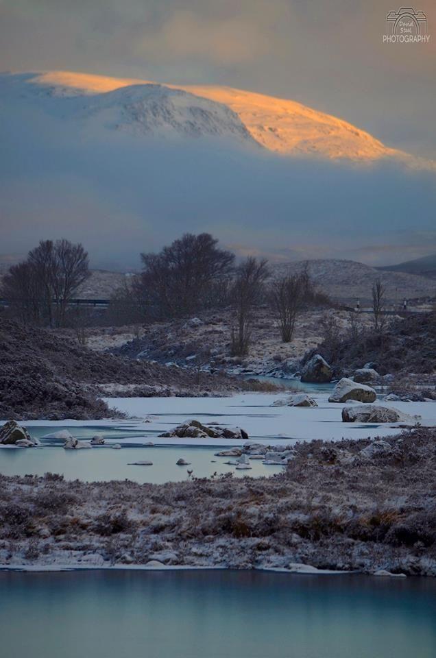 Early Morning Sunshine In Rannoch Moor Scotland