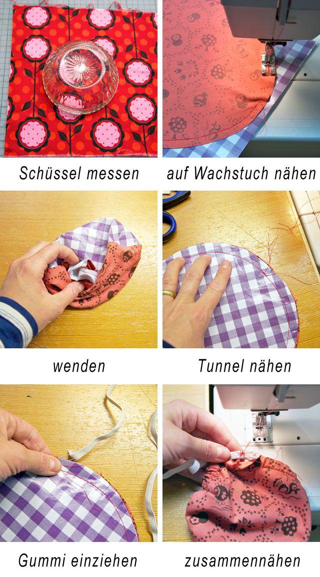 Schicke Schüsselabdeckungen aus Stoff schnell selbst genäht