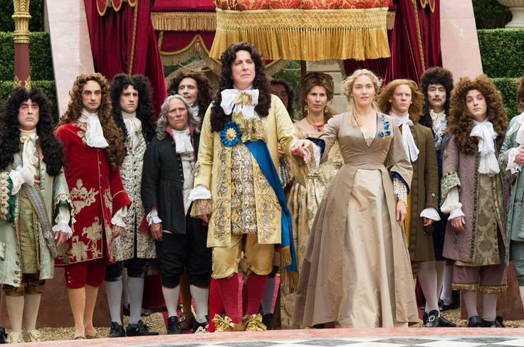 """2014 -- Alan Rickman as King Louis XIV in """"A Little Chaos."""" He both acted in and directed the movie."""