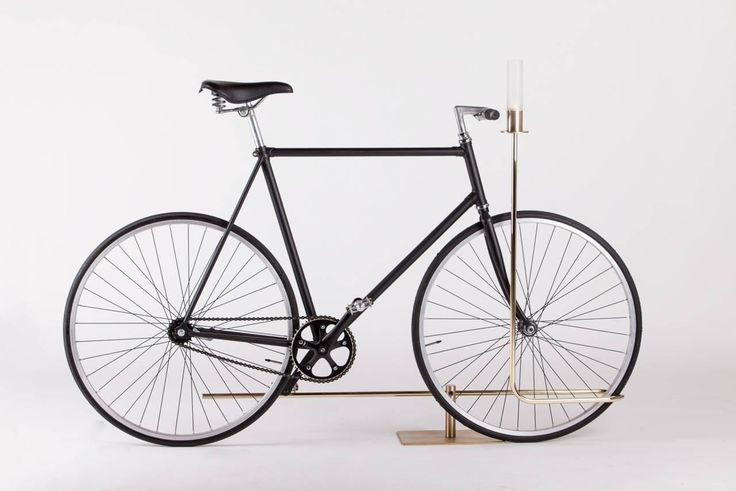 Bi-Track Bicycle Stand in Polished Brass by Masanori Mori, Wallpaper Award 2