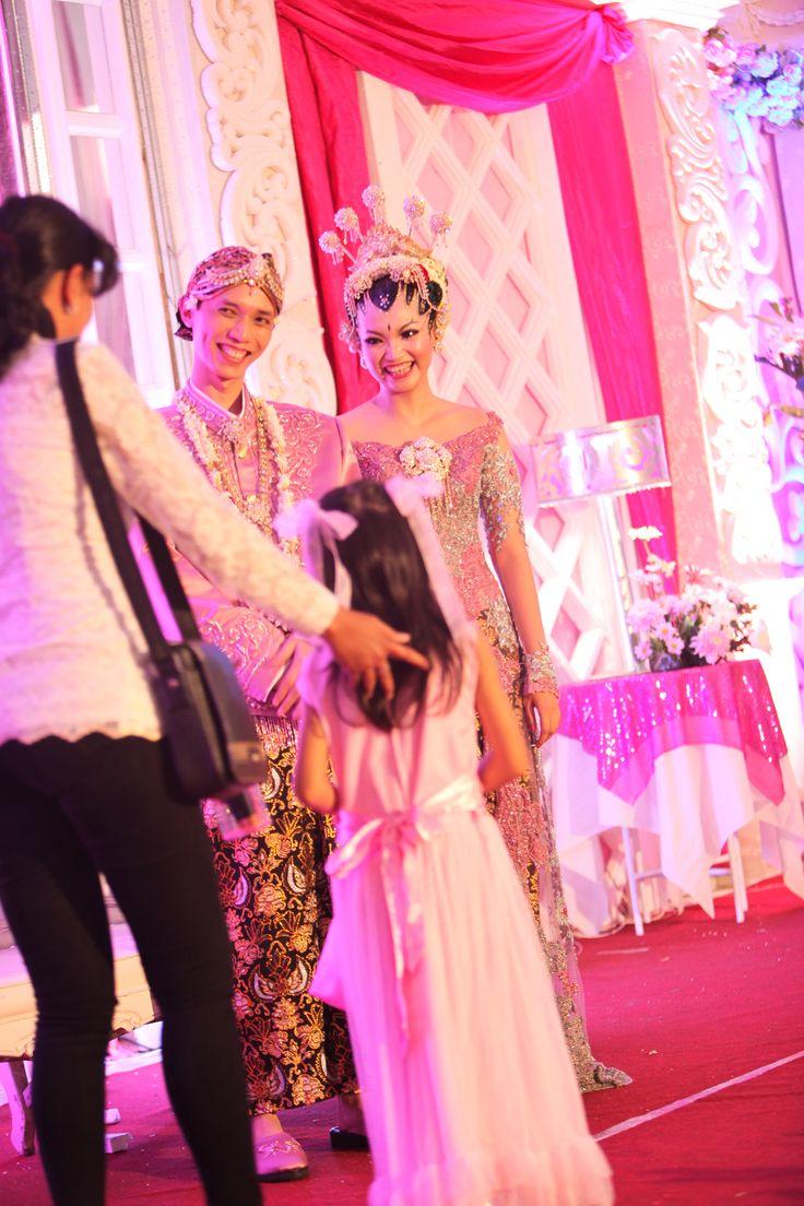 our pink&white wedding day.. we did it.. yaaaiii