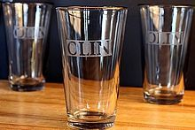 DIY Etched Glass -- A tutorial on how to etch letters & words on glasses, jars, bottles, & more