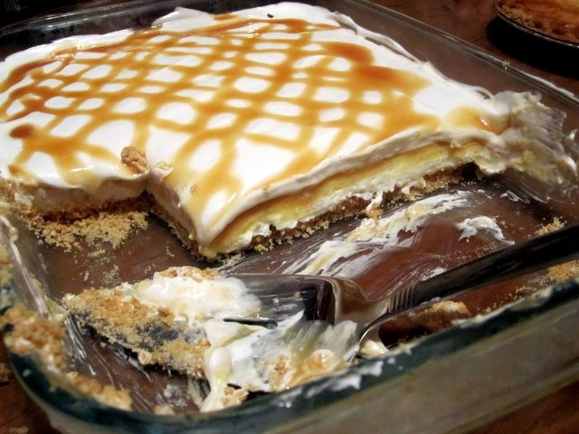 Butterscotch Pudding Dessert (can also add layer of chocolate pudding ...
