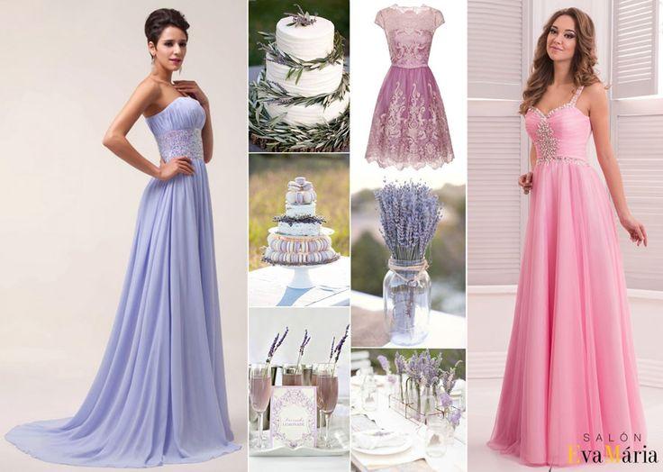 Levanduľové družičky, levandulová výzdoba, levandulové šaty