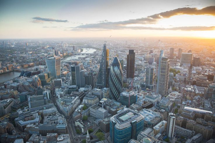 The City of London, looking West down the River Thames.  21 Dizzying Aerial Photos Of London