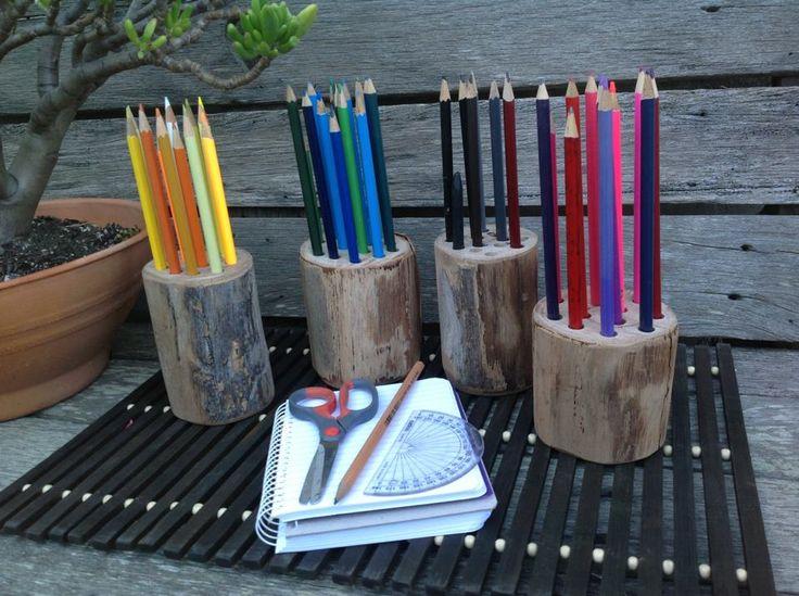 Pencil holders from  http://www.facebook.com/Fingadingadoo