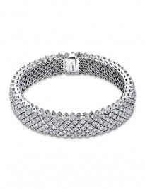 8ct white gold fancy diamond bracelet