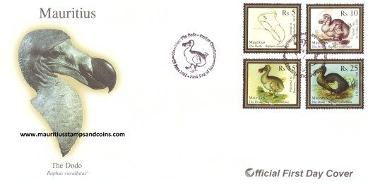 2007 Mauritius Stamps First Day Covers - THE DODO