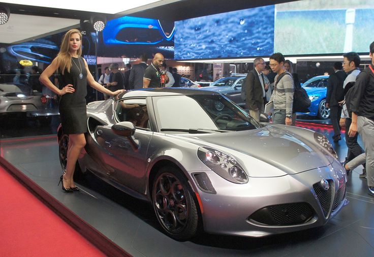 Alfa Romeo 4C on the Alfa stand