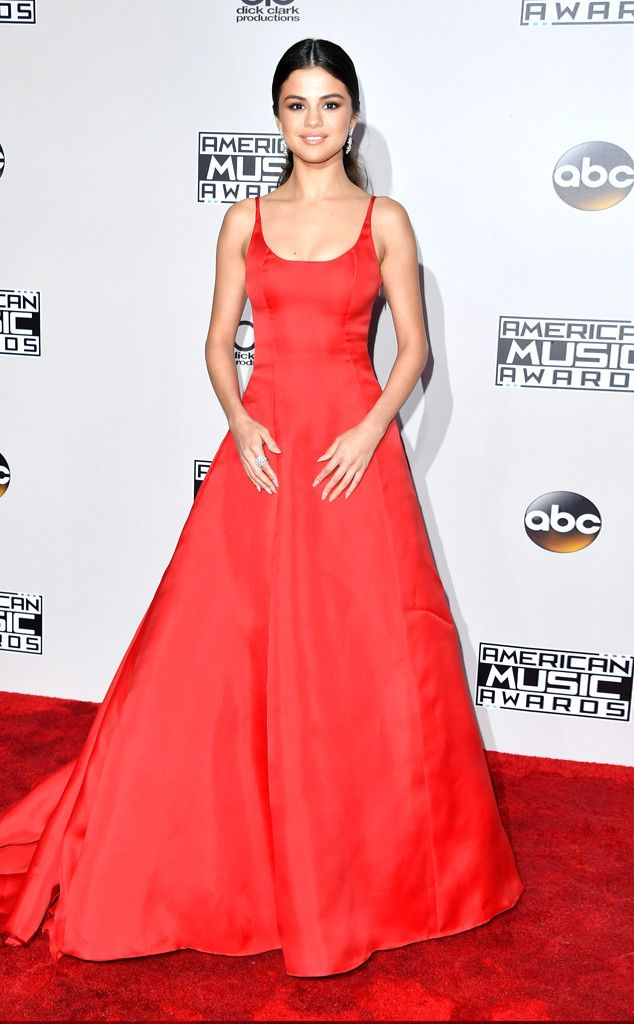 Selena Gomez from 2016 AMAs Red Carpet Arrivals In Prada