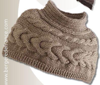 patron tricot chauffe epaule