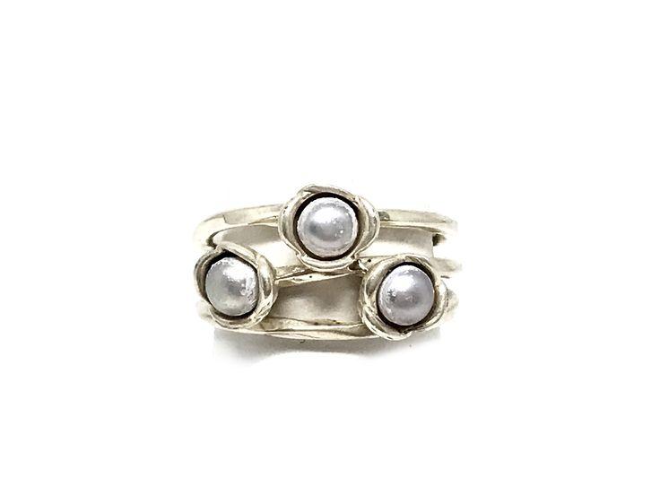 Pandora Pearl Ring Size 7