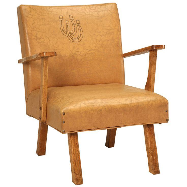 Original American Quot Ranch Oak Quot Cowboy Club Chair W