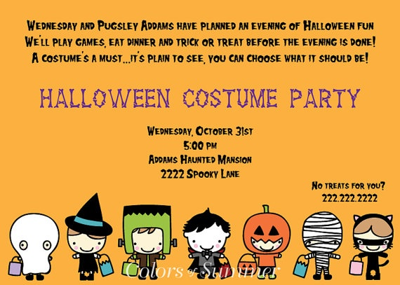 Halloween Costume Party Invitation  Custom by colorsofsummer, $12.00
