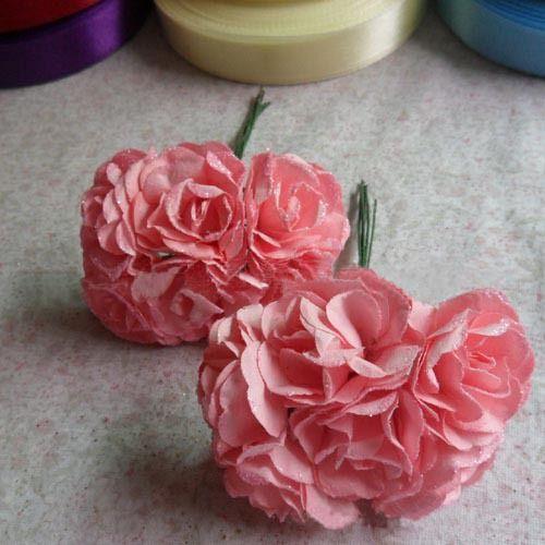 Pas cher 3 cm, Artificielle papier pas cher petite fleur bouquet, Bricolage artisanat accessoires décoration pour le mariage cheveux guirlande et boîte   cadeau et scrapbooking, Acheter  Fleurs décoratives et couronnes de qualité directement des fournisseurs de Chine:  Si vous avez besoin de beaucoup de ce produit, rapidement nous contacter, nous pouvons assurer à vous donner le meille