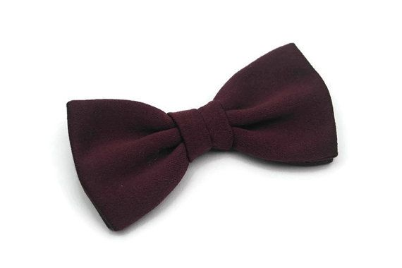 Bow Tie Burgundy Pre-Tied Clip-On Bow Tie Bow Tie by HouseOfCalima