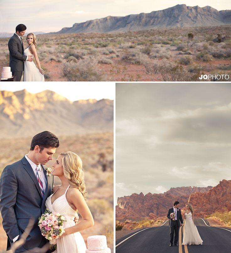 Las Vegas desert wedding photos at Valley of Fire. WPPI desert wedding workshop coordinated by Brushfire Photography. JoPhoto Knoxville wedding photographer.