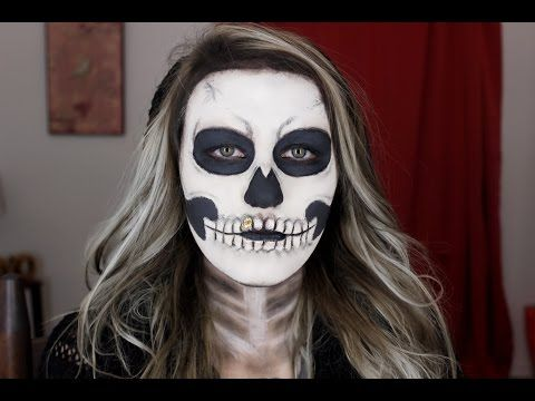 Easy Skeleton Makeup Tutorial | Halloween 2015 - YouTube