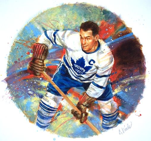 Syl Apps by charlesvinh.deviantart.com on @deviantART - Canadian pole vaulter, hockey player (Toronto Maple Leafs 1936-1948), and Ontario MPP (Member of Provincial Parliament) for the Conservative Party.