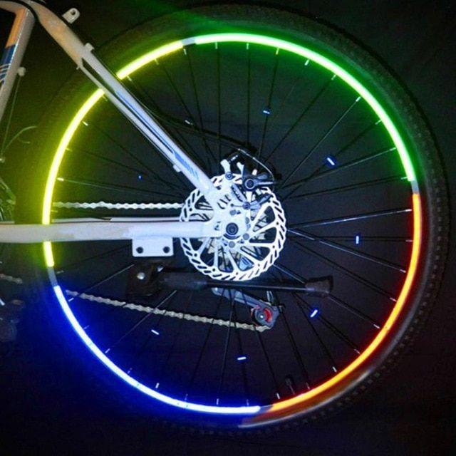 26 Inch Bike Stickers Decals Self Sticking Reflective Stickers